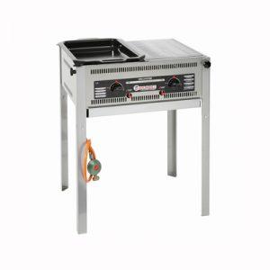 Barbecue Gas 60 x 50 cm Half Rooster en Half Bakplaat Lydison Verhuur