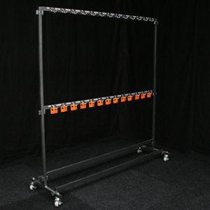 Garderoberek 200 cm met 100 haken Lydison Verhuur