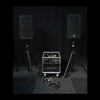 Geluid Set Medium met Draadloze Microfoons Pebe Verhuur Lydison Verhuur