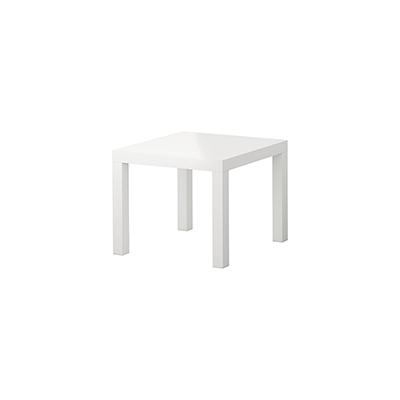 Lounge tafeltje 55 x 55 cm wit 45 cm hoog Lydison Verhuur