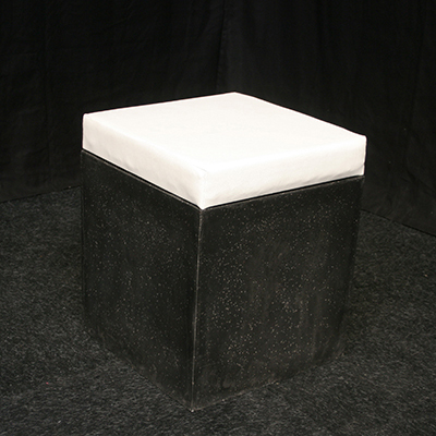 Lounge Zitje Stone Zwart met Wit kussen Lydison Verhuur