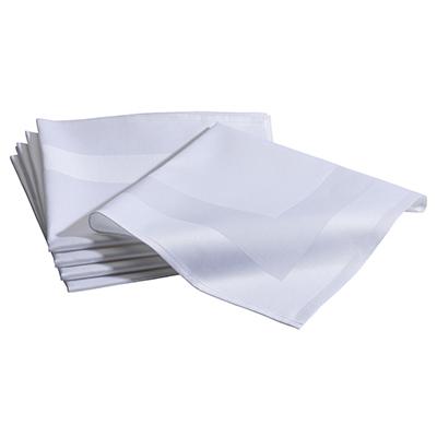 Servet Damast Wit 50 x 50 cm Lydison Verhuur