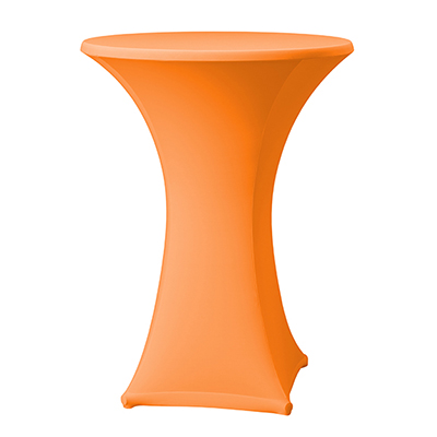 Statafelhoes Oranje Stretch voor 90 cm statafel Lydison Verhuur