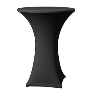 Statafelhoes Zwart Stretch voor 90 cm statafel Lydison Verhuur