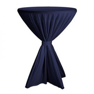 Statafelrok Blauw voor 90 cm statafel Lydison Verhuur