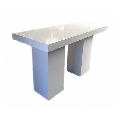 Statafel XL strak Lounge Wit 180 x 80 x 110 cm Lydison Verhuur