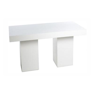 Tafel XL strak wit 180 x 80 x 75 cm Lydison Verhuur