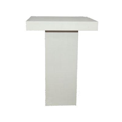 Statafel strak Wit Lounge 80 x 80 x 110 cm Lydison Verhuur