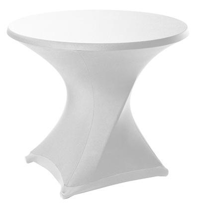 Tafelhoes Wit Stretch voor 90 cm Klaptafel Lydison Verhuur