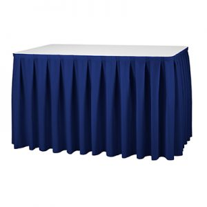 Tafelrok Blauw 410 cm Lydison Verhuur