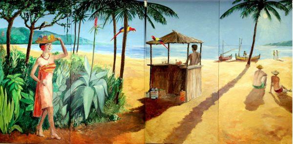 Tropisch Decor 4 delig 480 x 240 cm Lydison Verhuur