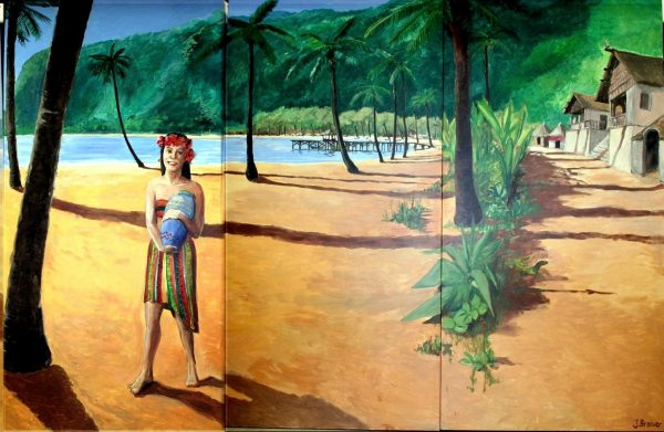 Tropisch Decor 3 delig 360 x 240 cm Lydison Verhuur