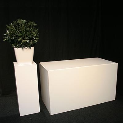 Welkomst tafel Lounge 160 x 80 cm kleur Wit Lydison Verhuur