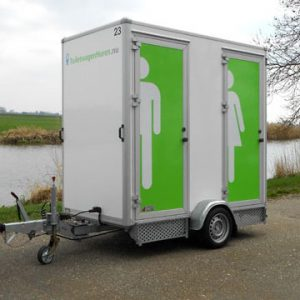 Toiletwagen Klein inclusief Eindschoonmaak 3500 watt Lydison Verhuur
