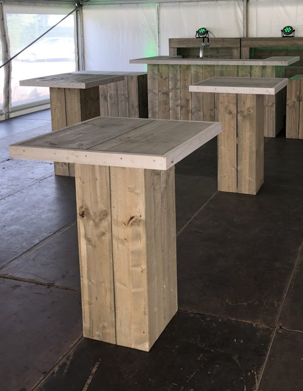 Statafel-Steigerhout-met-Steigerhout-Blad-80-x-80-cm-Lydison-Verhuur