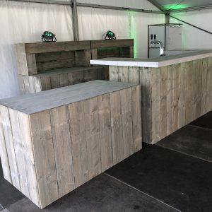 Buffettafel Steigerhout Lydison Verhuur