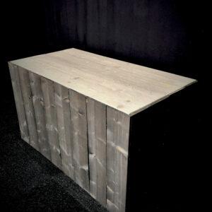 Buffettafel Steigerhout 160 x 90 cm Zwart - Grijs Lydison Verhuur