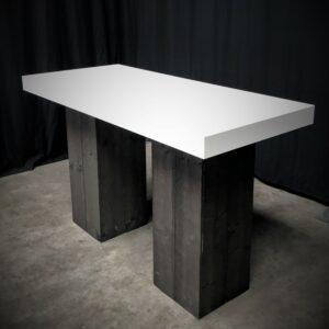 Statafel-XL-BONN-Steigerhout-Zwart-Wit-180-x-80-cm-Lydison-Verhuur